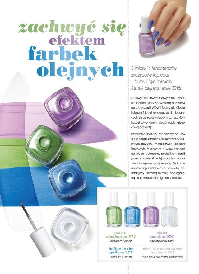 Paznokciowe inspiracje - farbki olejne od Essie (FOTO)