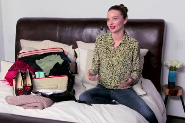 Co Miranda Kerr zabiera ze sobą w bagażu podręcznym? (VIDEO)