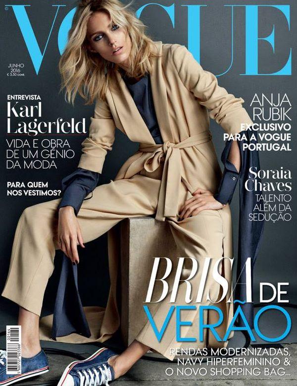 Anja Rubik zachwyca na najnowszej okładce Vogue Portugal