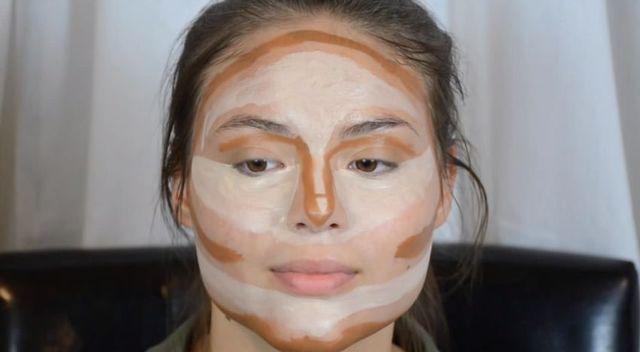 Sekret makijażu Kim Kardashian - konturowanie twarzy [VIDEO]