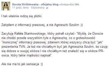 Dorota Wróblewska znowu prowokuje wypowiedziami!