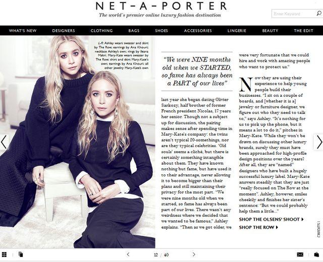 Siostry Olsen dla najnowszego The Edit
