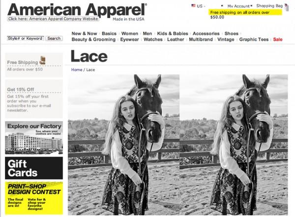 Photoshopowa katastrofa American Apparel (FOTO)
