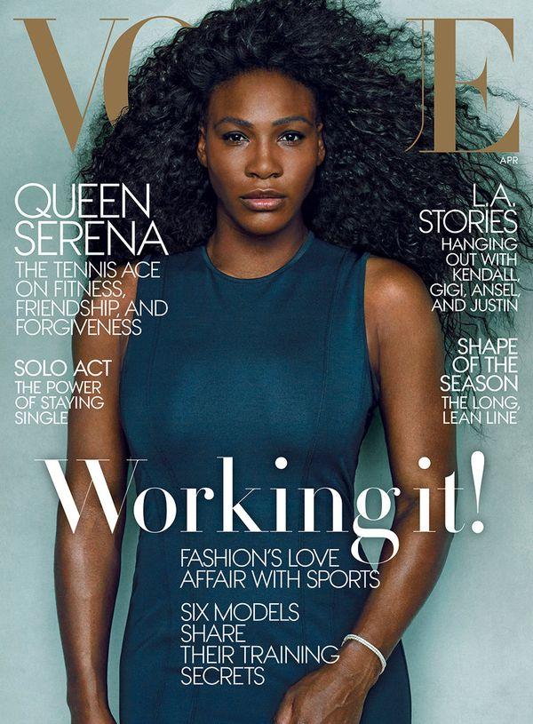 Serena Williams trafiła na kwietniową okładkę Vogue (FOTO)