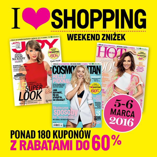 I love shopping - Weekend zniżek z Cosmopolitan