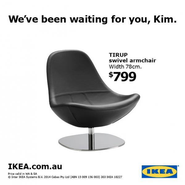 IKEA genialnie śmieje się z pośladków Kim Kardashian