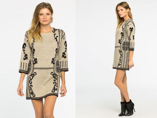 Przegląd dzianinowych sukienek i długich swetrów