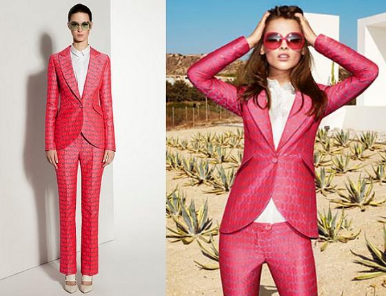 Zosia Ślotała w kolorowym garniturze Simple