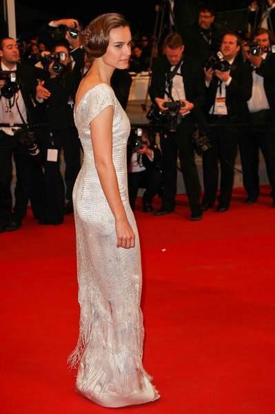 Kasia Smutniak w sukience Armani Privé