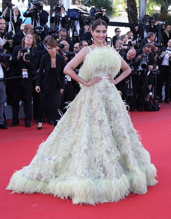 Kreacja Sonam Kapoor najbardziej spektakularna w Cannes?