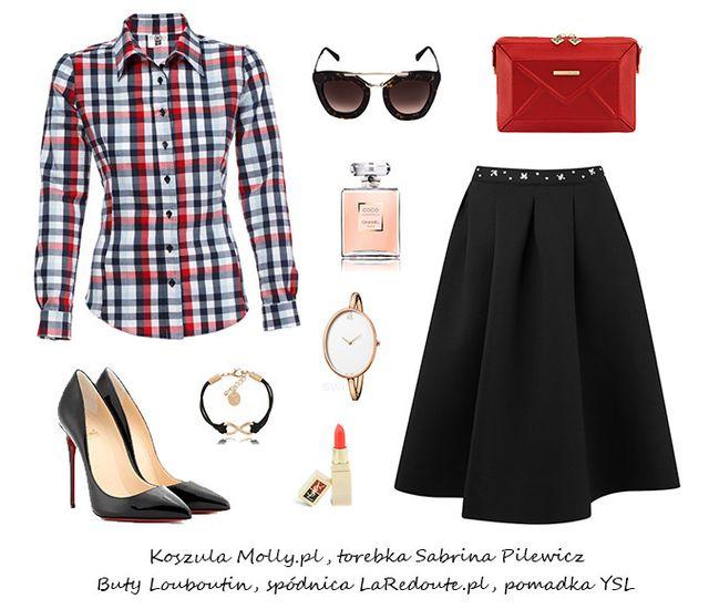 Czarna rozkloszowana spódnica z koła - Trzy gotowe stylizacje na lato 2016