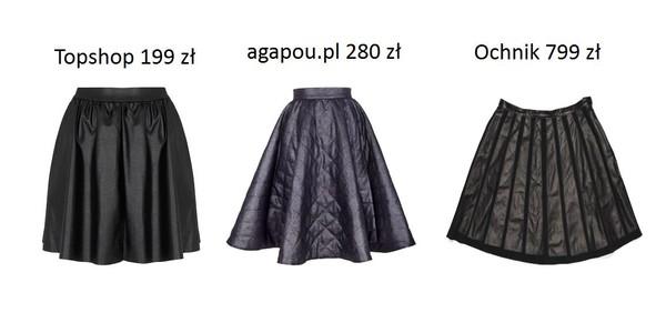 Spódnice w kształcie litery A