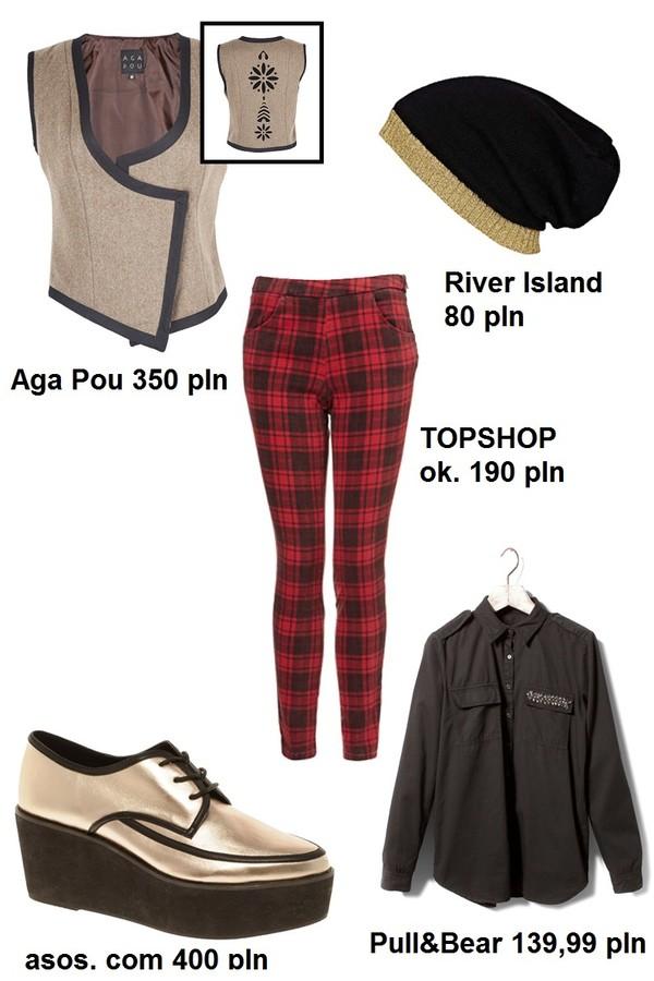 Stylizacje ze spodniami w kratę (FOTO)
