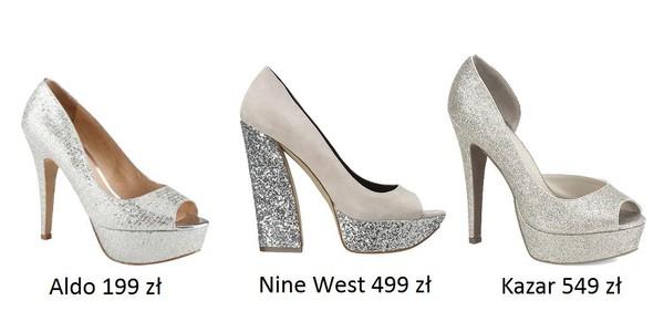 Srebrne buty na Sylwestra