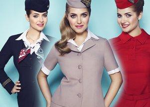 Historyczne stroje polskich stewardess