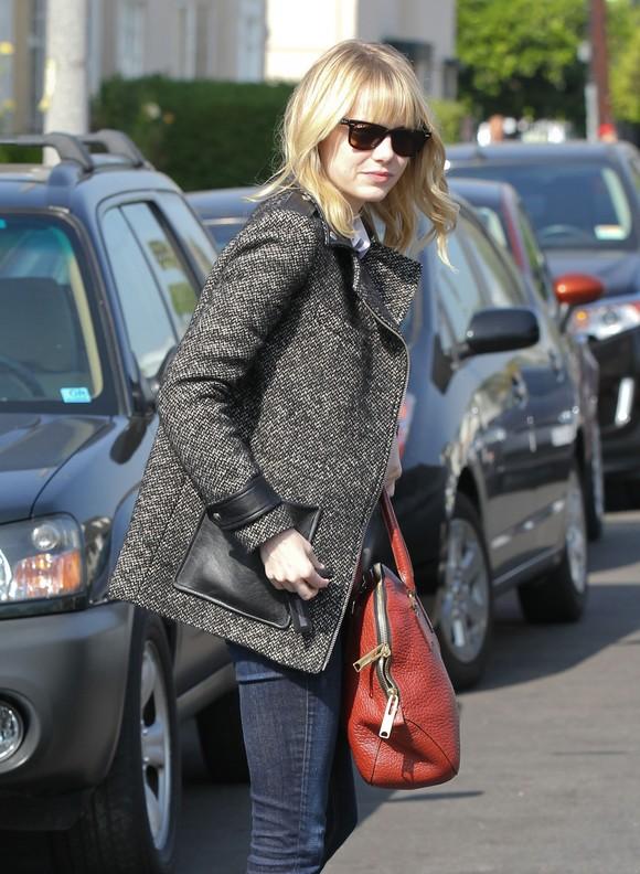 Emma Stone w jesiennej stylizacji