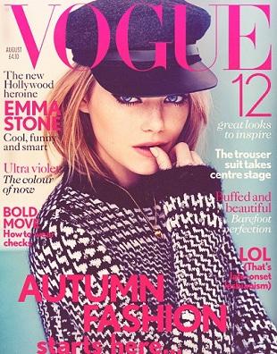 Emma Stone w sierpniowym Vouge'u