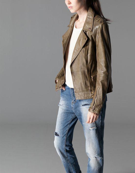 Gorące wyprzedażowe propozycje - Skórzane kurtki (FOTO)