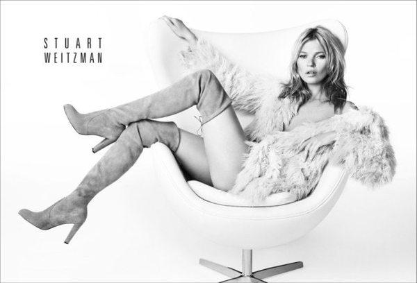 Kate Moss ponownie w kampanii marki Stuart Weitzman