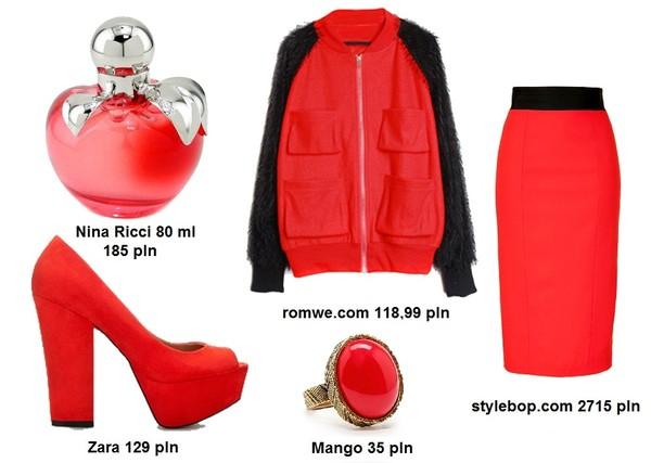 Stylizacje w odcieniach czerwieni i bordo