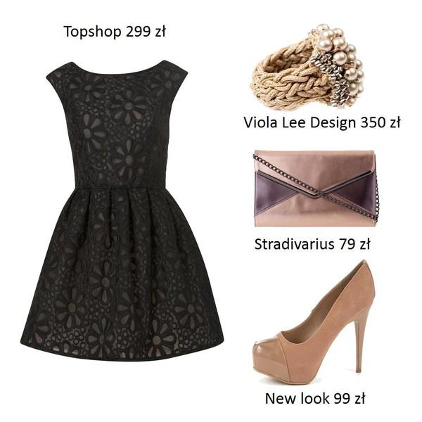 Zestawy z wykorzystaniem rozkloszowanej sukienki