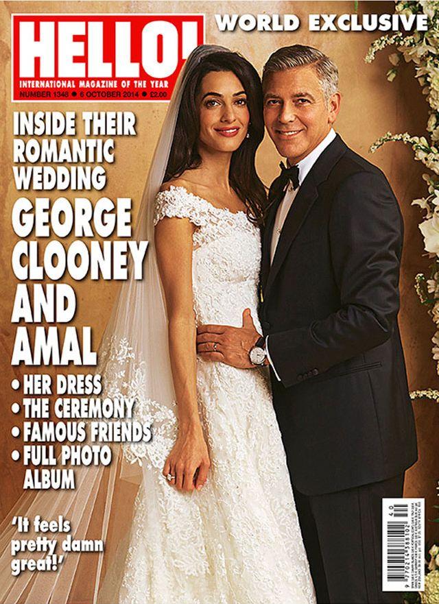 Suknia ślubna Amal Alamuddin jest warta milion dolarów!