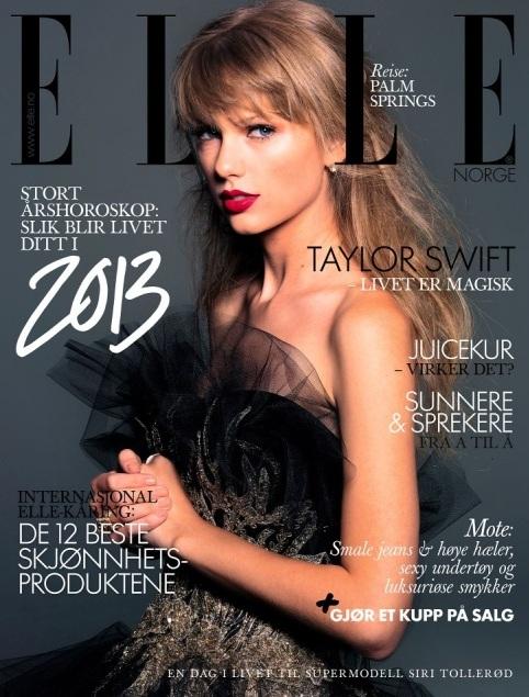 Taylor Swift na okładce styczniowego Elle Norwegia