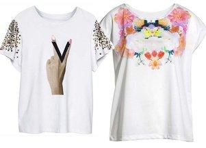 białe t-shirty