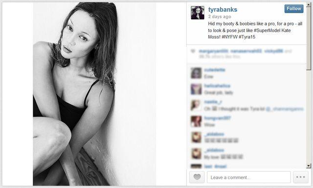 Czy to Tyra Banks, czy Cara Delevingne? (FOTO)
