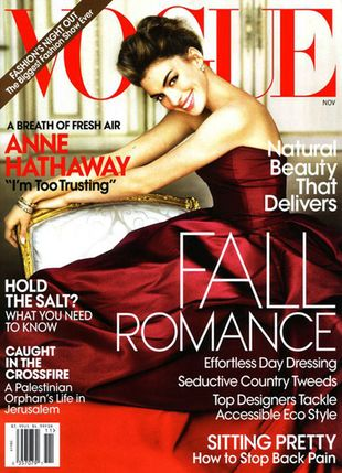 Anne Hathaway w amerykańskim Vogue