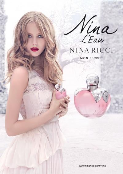 Frida Gustavsson w kampanii nowego zapachu Niny Ricci Nina L