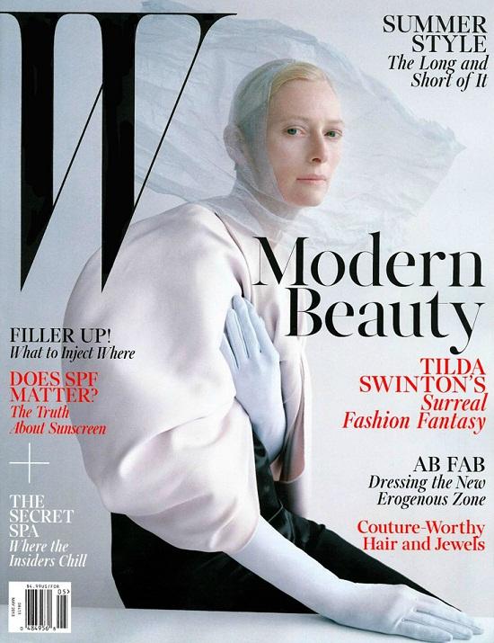 Tilda Swinton na majowej okładce W Magazine