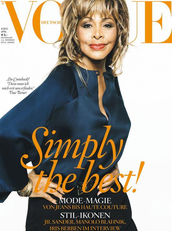Tina Turner na okładce Vogue