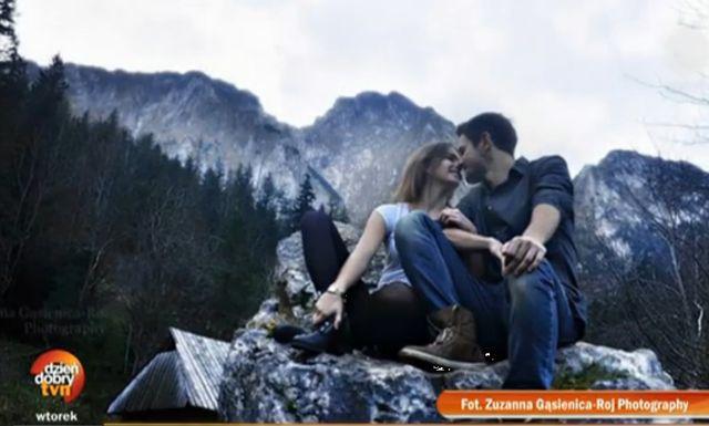 Mateusz Jarzębiak i Olga Kaczyńska chwala się związkiem