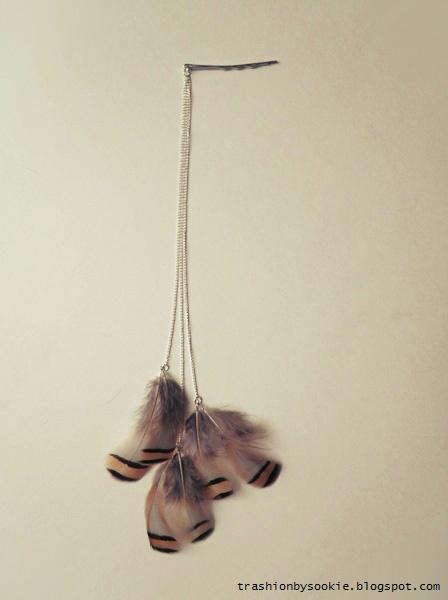 Zrób to sama: spinki z piórami