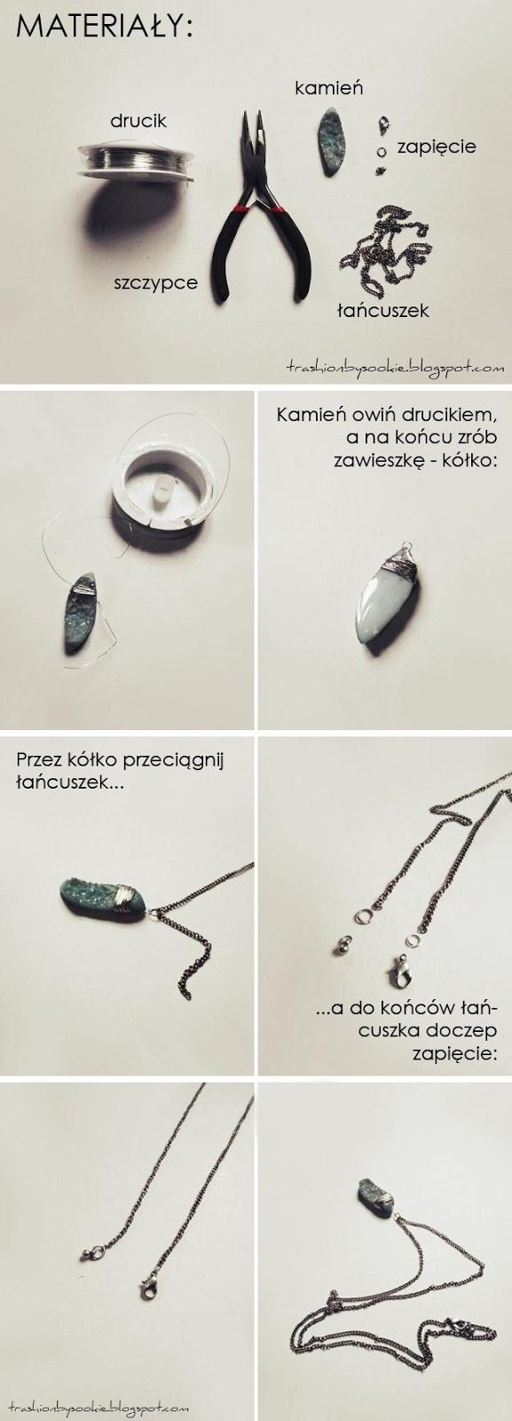 Zrób to sama: naszyjnik z kamieniem
