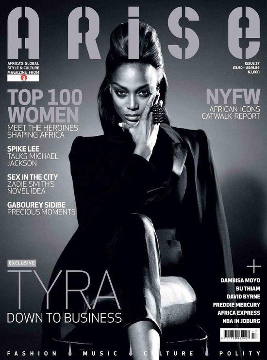 Tyra Banks na okładce Arise (FOTO)