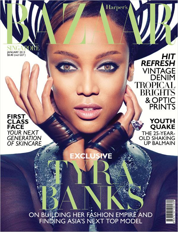Tyra Banks w Harper's Bazaar