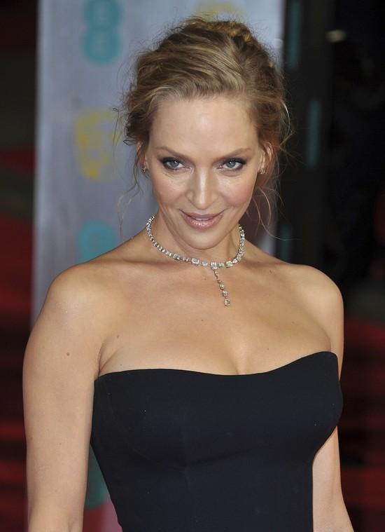 Uma thurman zachwyciła na gali BAFTA 2014 (FOTO)