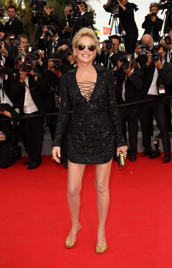 56-letnia Sharon Stone zachwyca w Cannes! (FOTO)