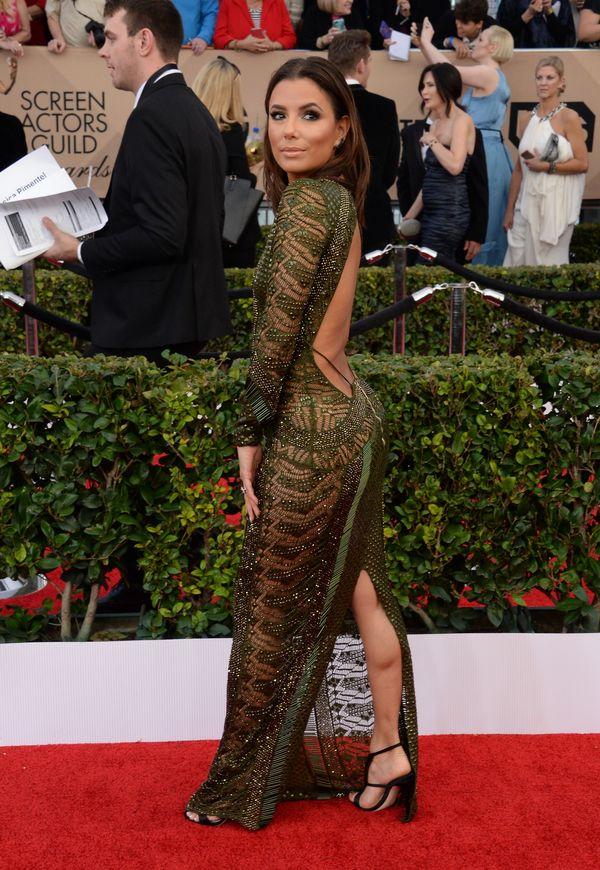 Eva Longoria zachwyca w zielonej sukni Julien Macdonald