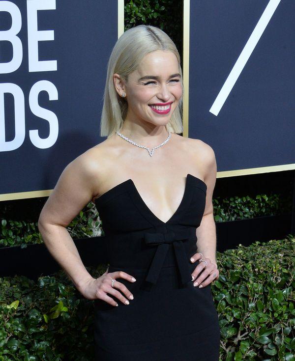 Złote Globy: Emilia Clarke i dekolt, obok którego nie dało się przejść obojętnie
