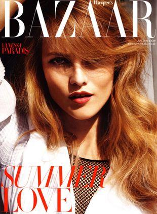 Vanessa Paradis na okładce Harper's Bazaar i Glamour
