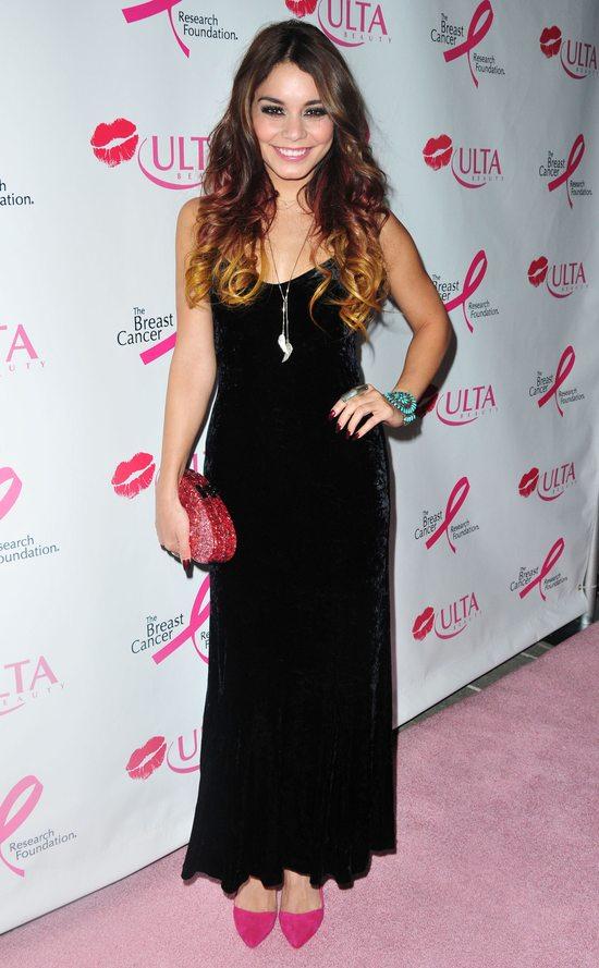 Vanessa Hudgens w czarnej sukni vintage