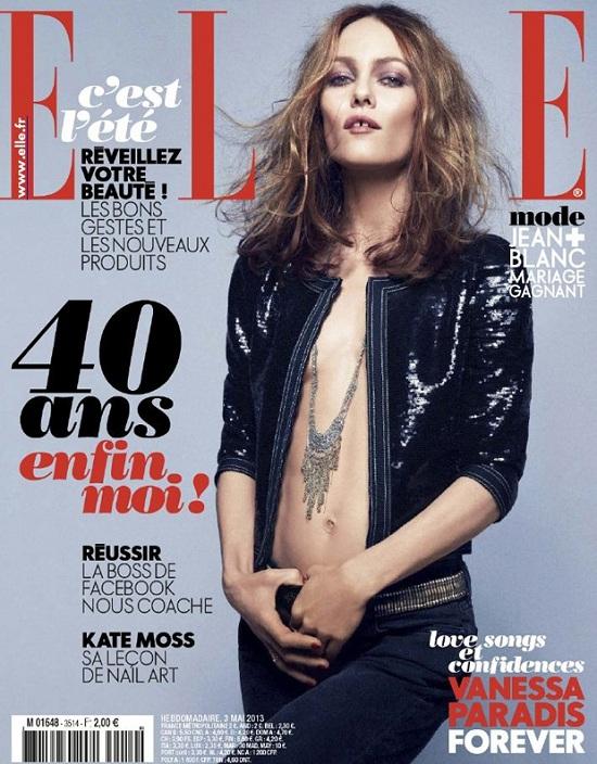 Vanessa Paradis na majowej okładce Elle France