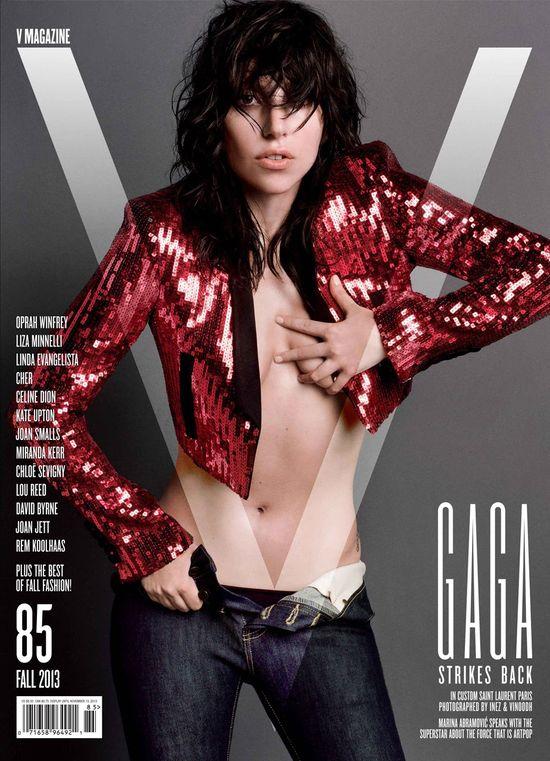Kontrowersyjna Lady Gaga na okładkach dla magazynu V