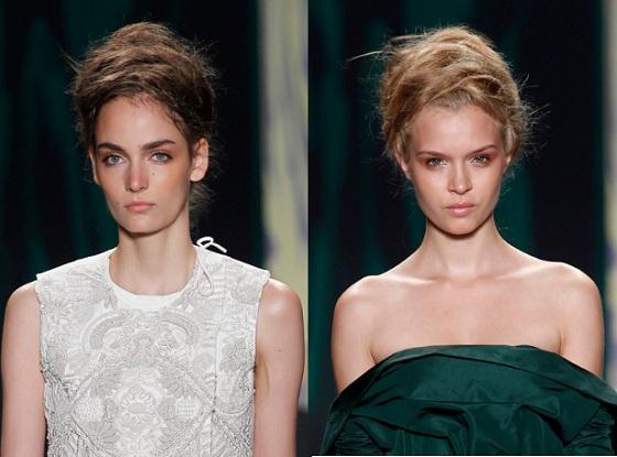Najmodniejsze fryzury z wybiegów wiosna-lato 2013