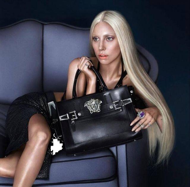 Lady Gaga na pierwszych zdjęciach z kampanii Versace (FOTO)