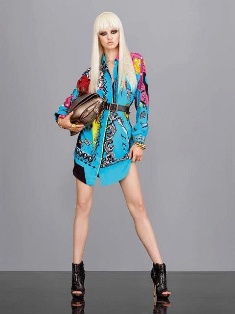 Lindsey Wixson w lookbooku Versace na sezon wiosna-lato 2013
