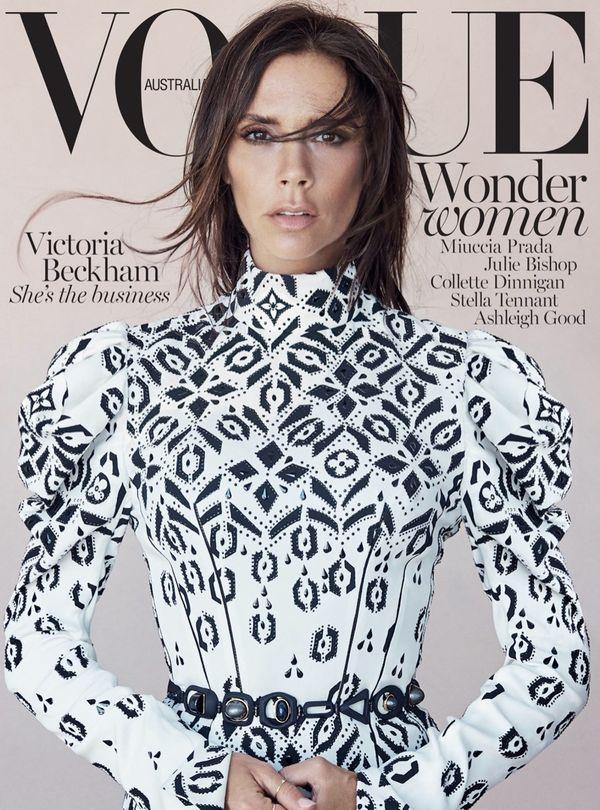 Rozczochrana Victoria Beckham na okładce Vogue